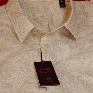 Tasso Elba Long Sleeves Paisley Shirt..sz 2XL